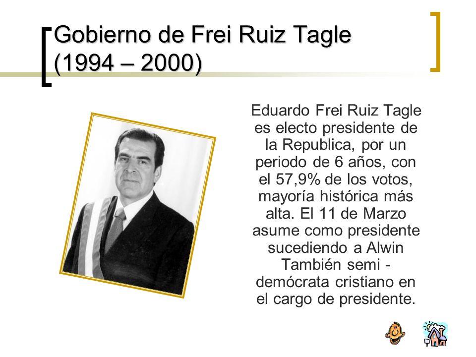 Gobierno de Frei Ruiz Tagle (1994 – 2000)