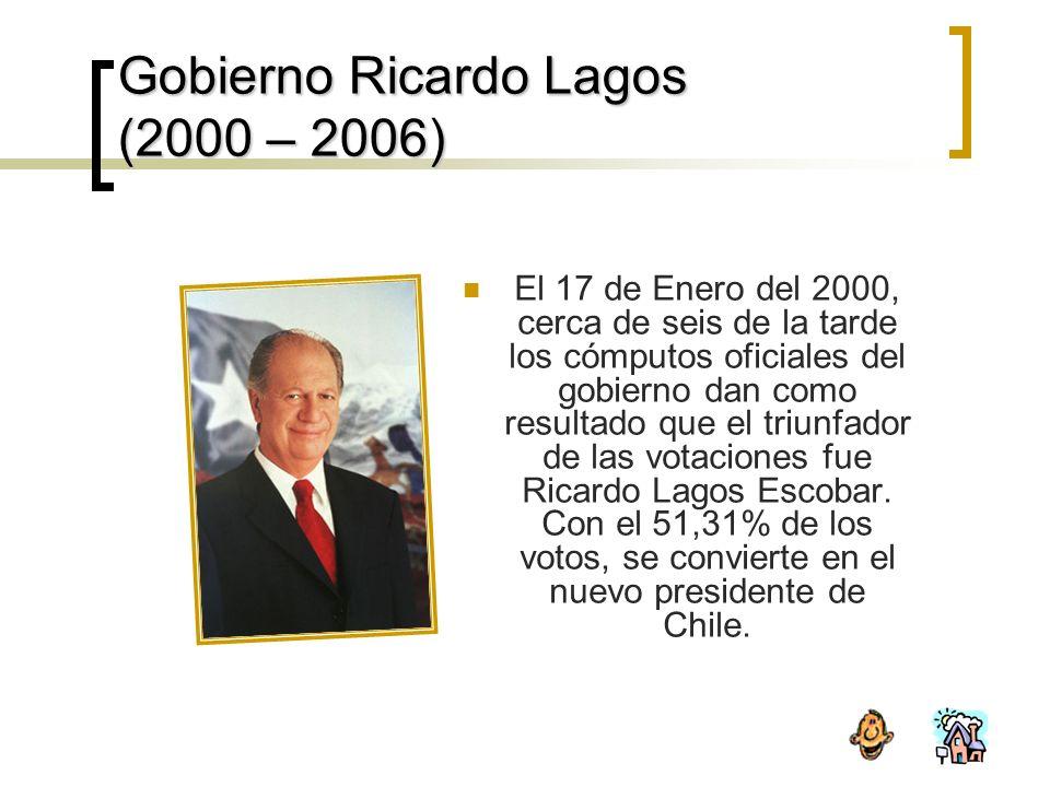 Gobierno Ricardo Lagos (2000 – 2006)