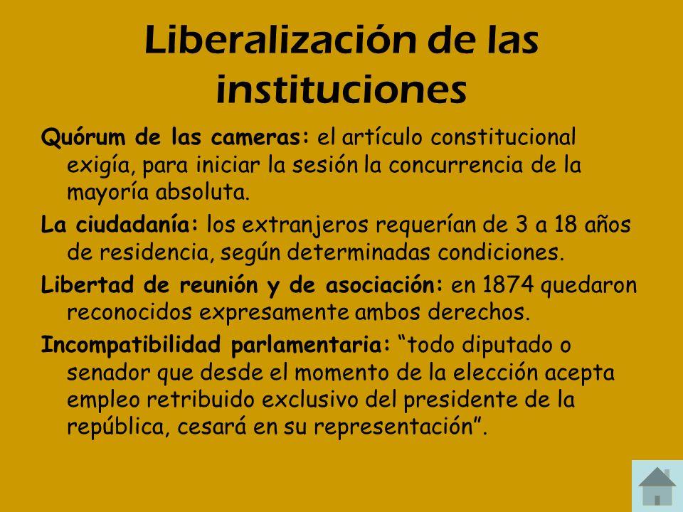 Liberalización de las instituciones