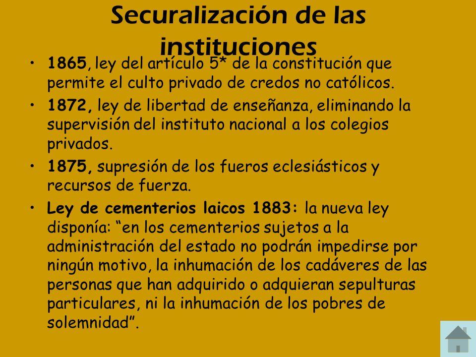 Securalización de las instituciones