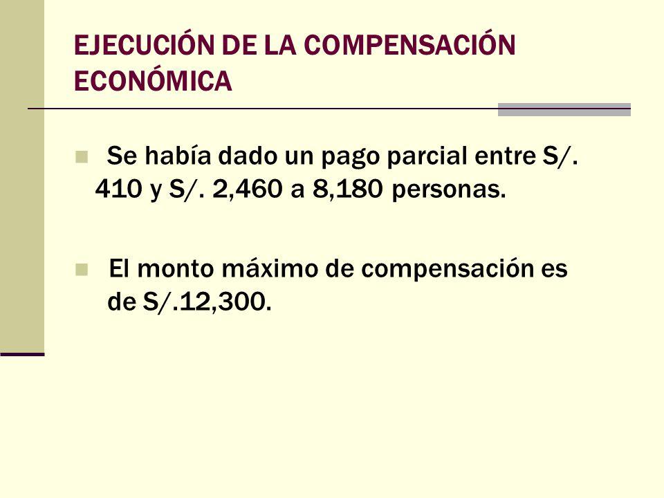 EJECUCIÓN DE LA COMPENSACIÓN ECONÓMICA