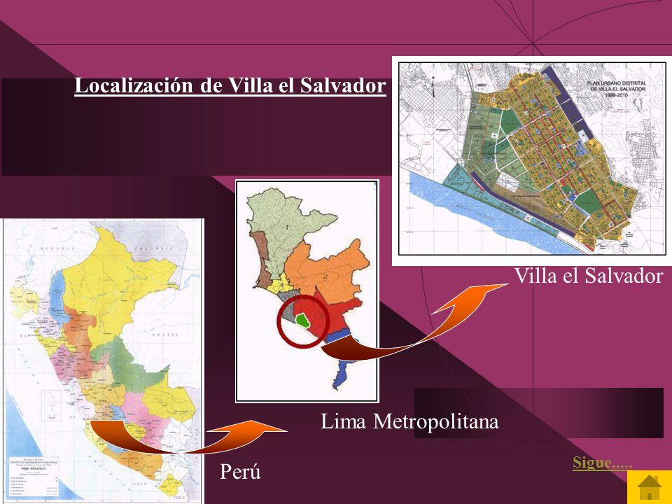 Localización de Villa el Salvador
