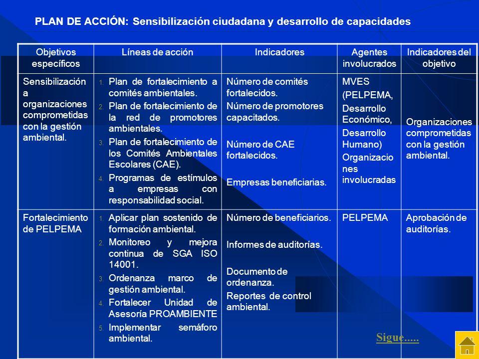 PLAN DE ACCIÓN: Sensibilización ciudadana y desarrollo de capacidades