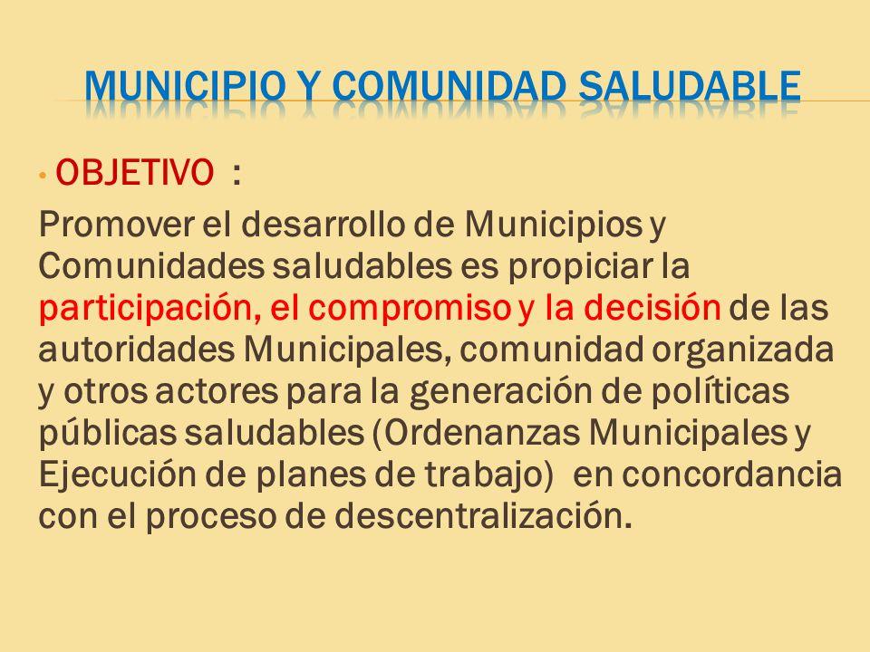 MUNICIPIO Y COMUNIDAD SALUDABLE
