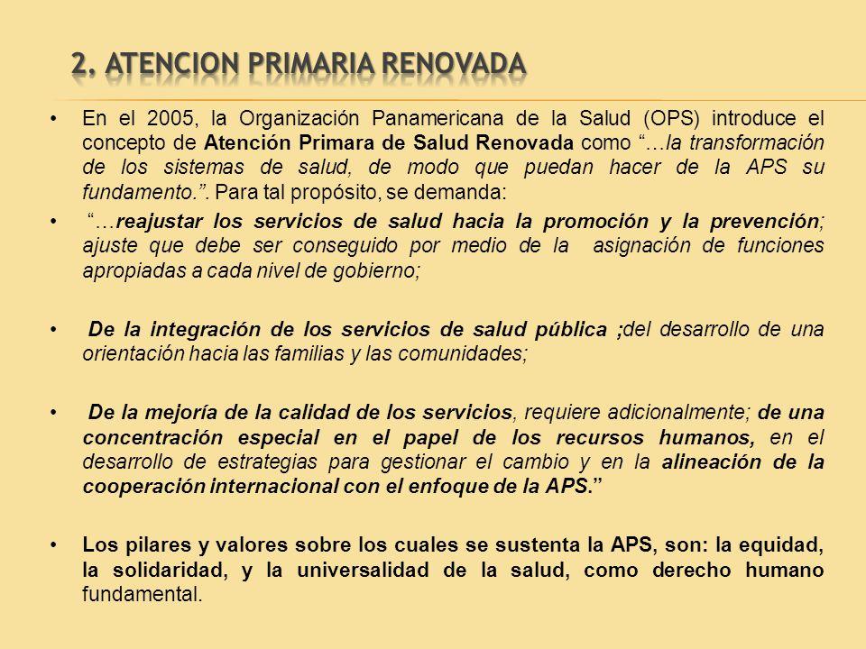 2. ATENCION PRIMARIA RENOVADA