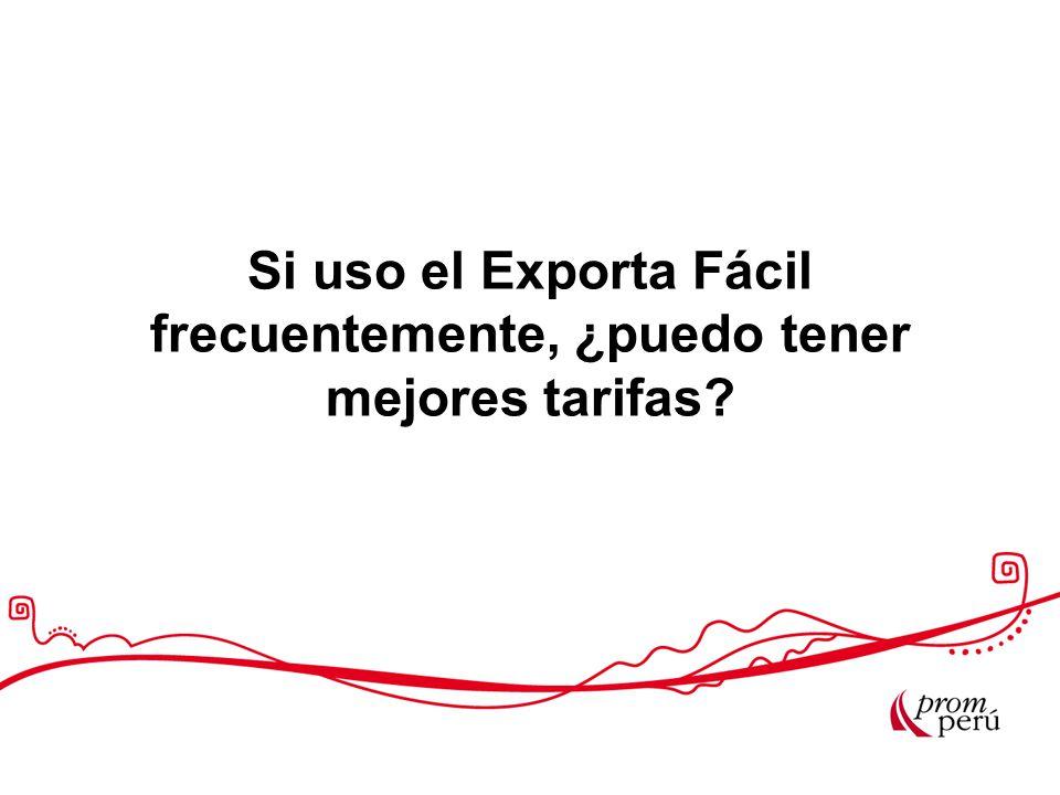 Si uso el Exporta Fácil frecuentemente, ¿puedo tener mejores tarifas