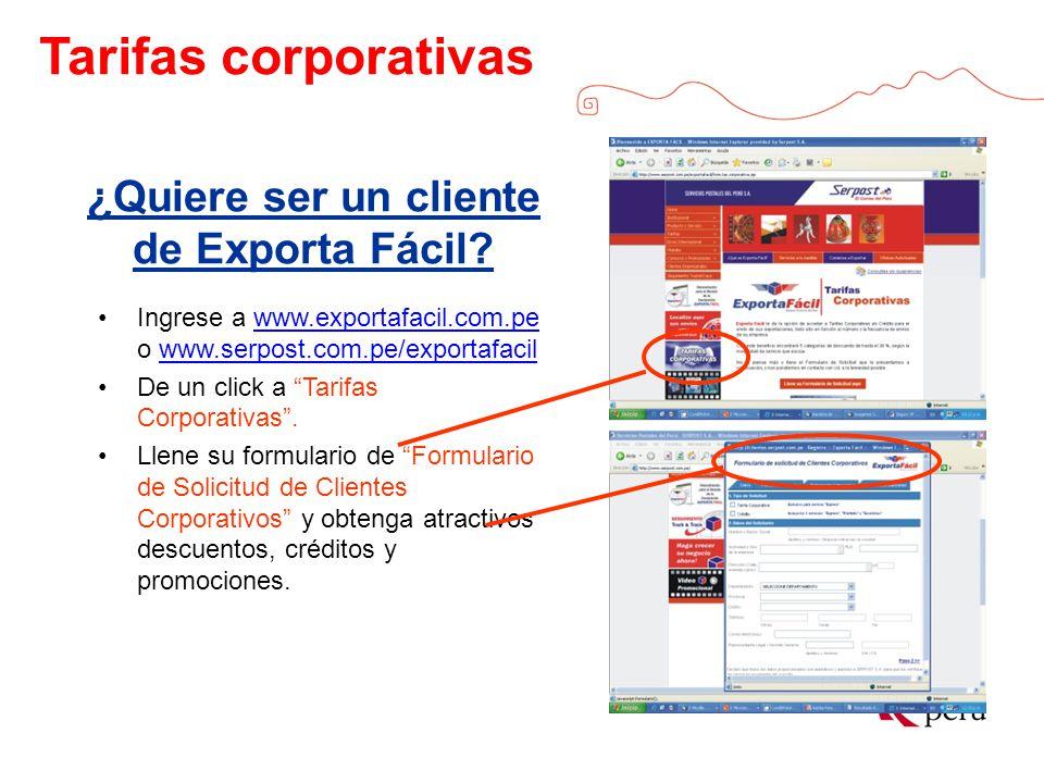 ¿Quiere ser un cliente de Exporta Fácil