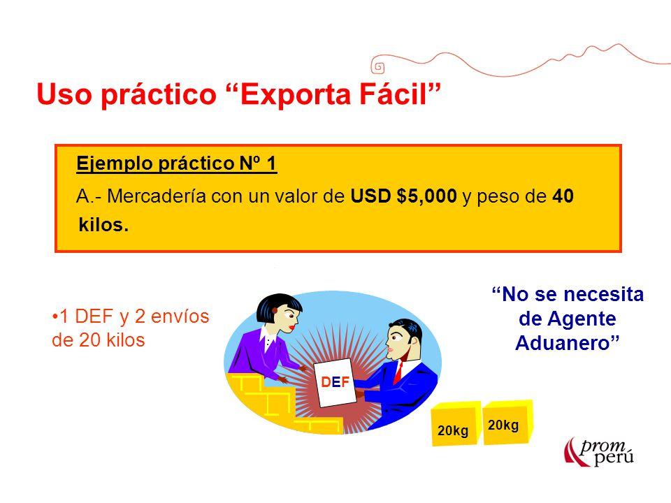 Uso práctico Exporta Fácil