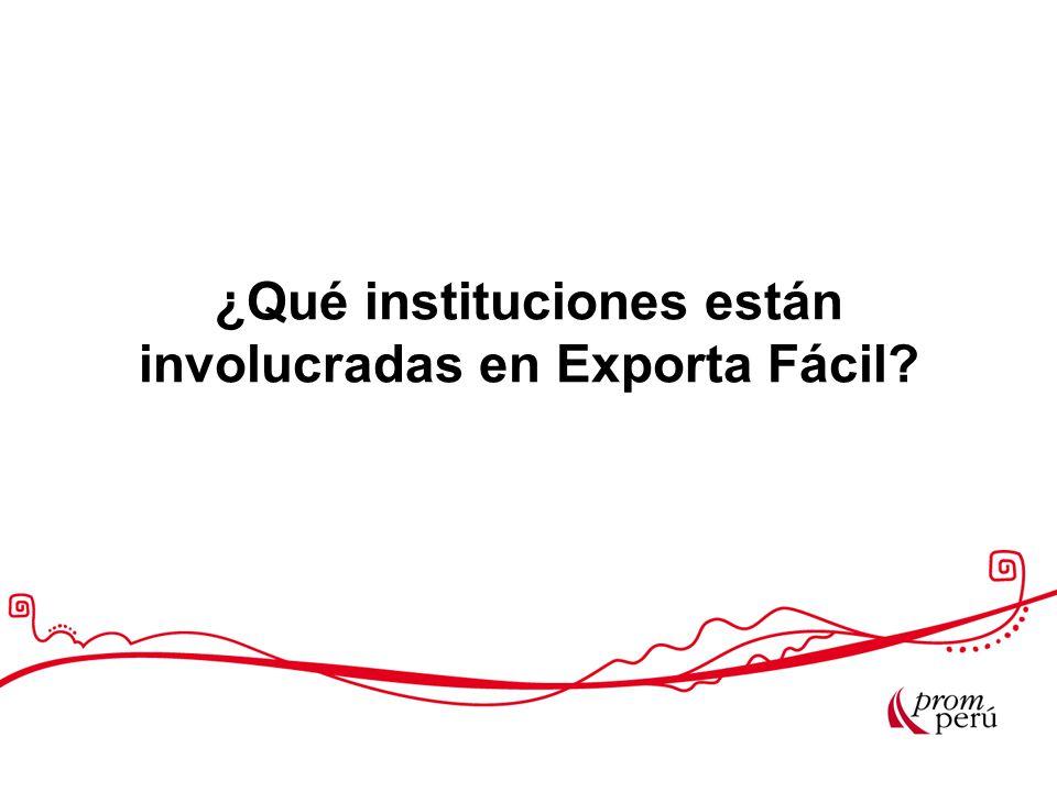 ¿Qué instituciones están involucradas en Exporta Fácil
