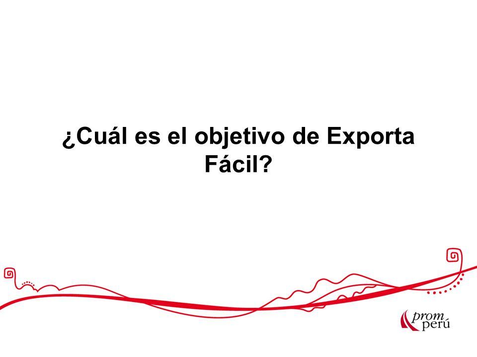 ¿Cuál es el objetivo de Exporta Fácil