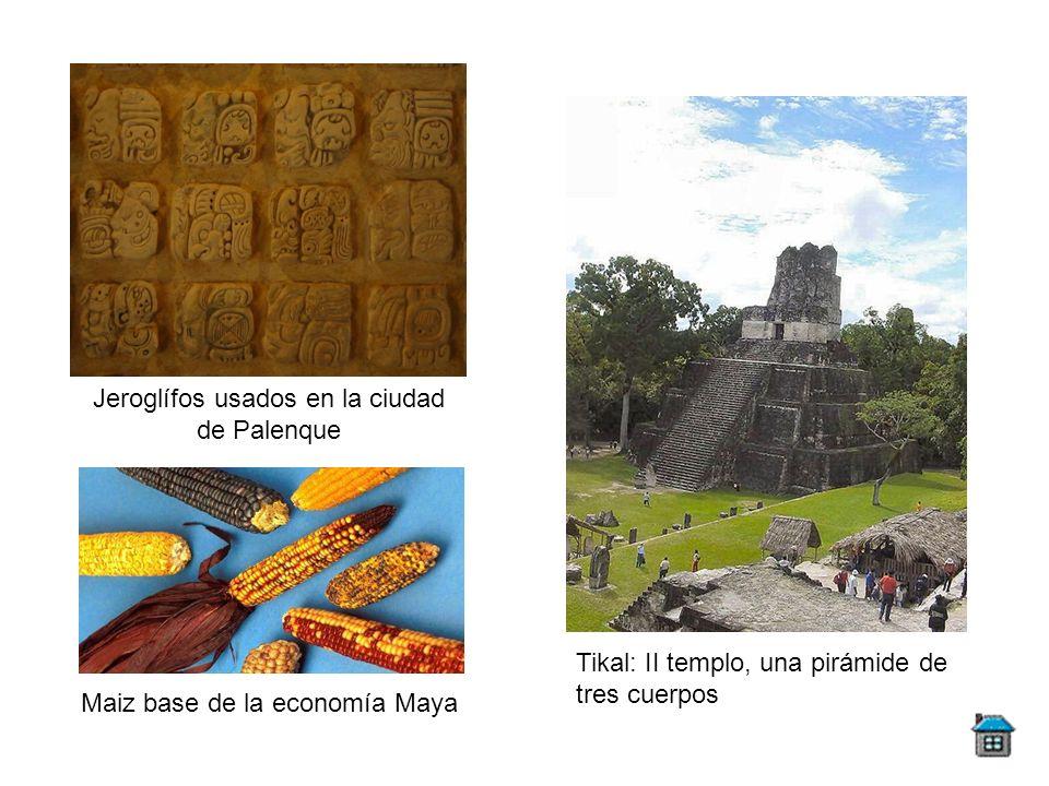 Jeroglífos usados en la ciudad de Palenque