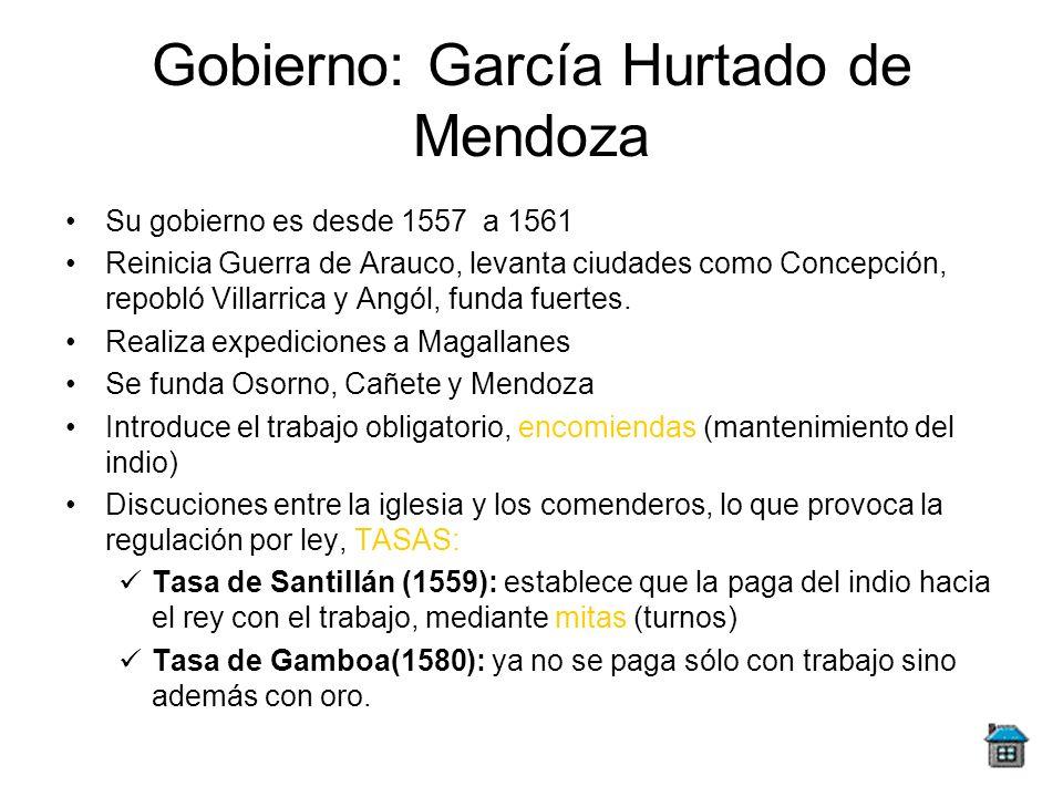 Gobierno: García Hurtado de Mendoza