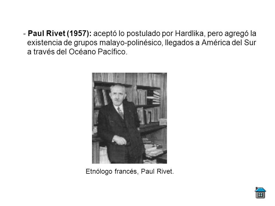Etnólogo francés, Paul Rivet.