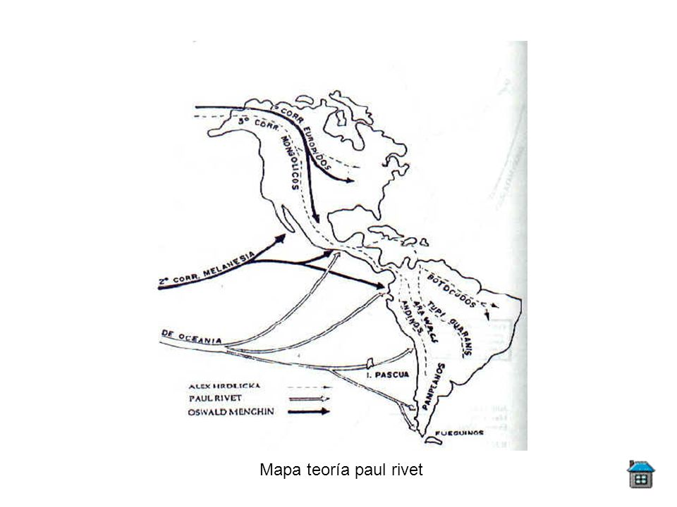 Mapa teoría paul rivet