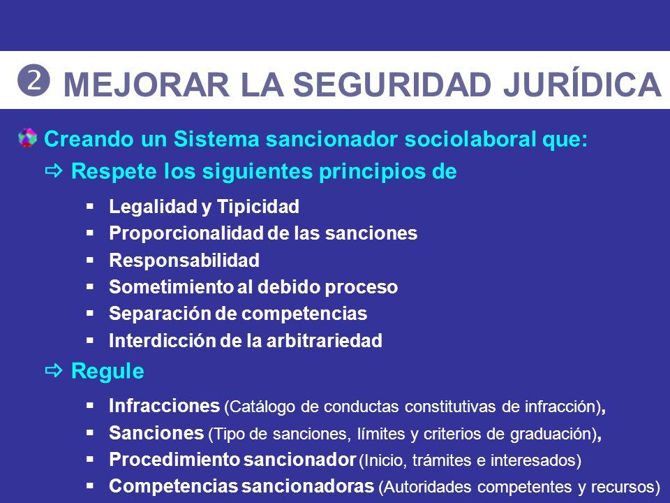  MEJORAR LA SEGURIDAD JURÍDICA
