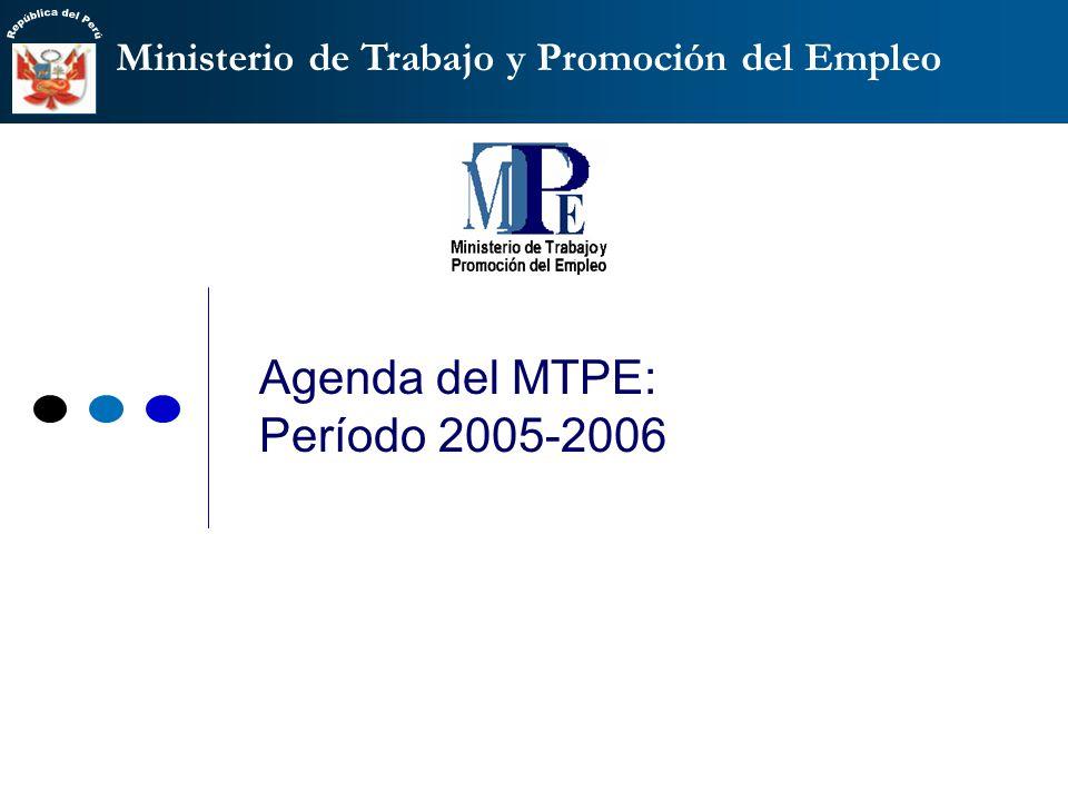 Agenda del MTPE: Período 2005-2006