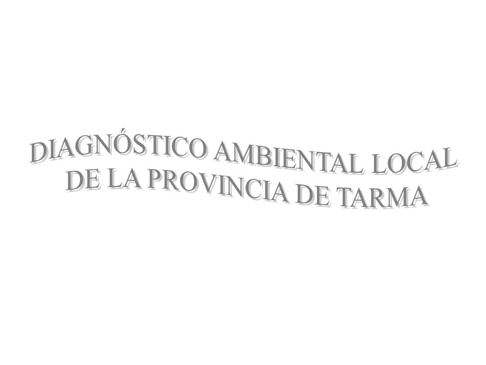 DIAGNÓSTICO AMBIENTAL LOCAL DE LA PROVINCIA DE TARMA