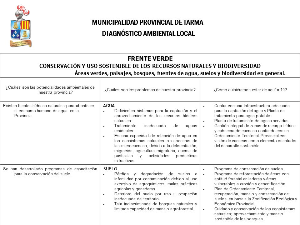 DIAGNÓSTICO AMBIENTAL LOCAL