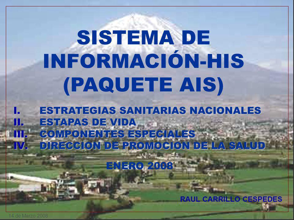 SISTEMA DE INFORMACIÓN-HIS (PAQUETE AIS)
