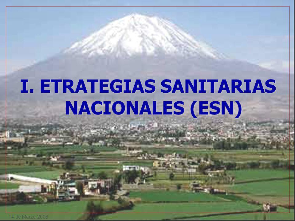 I. ETRATEGIAS SANITARIAS NACIONALES (ESN)