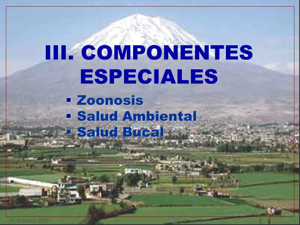 III. COMPONENTES ESPECIALES