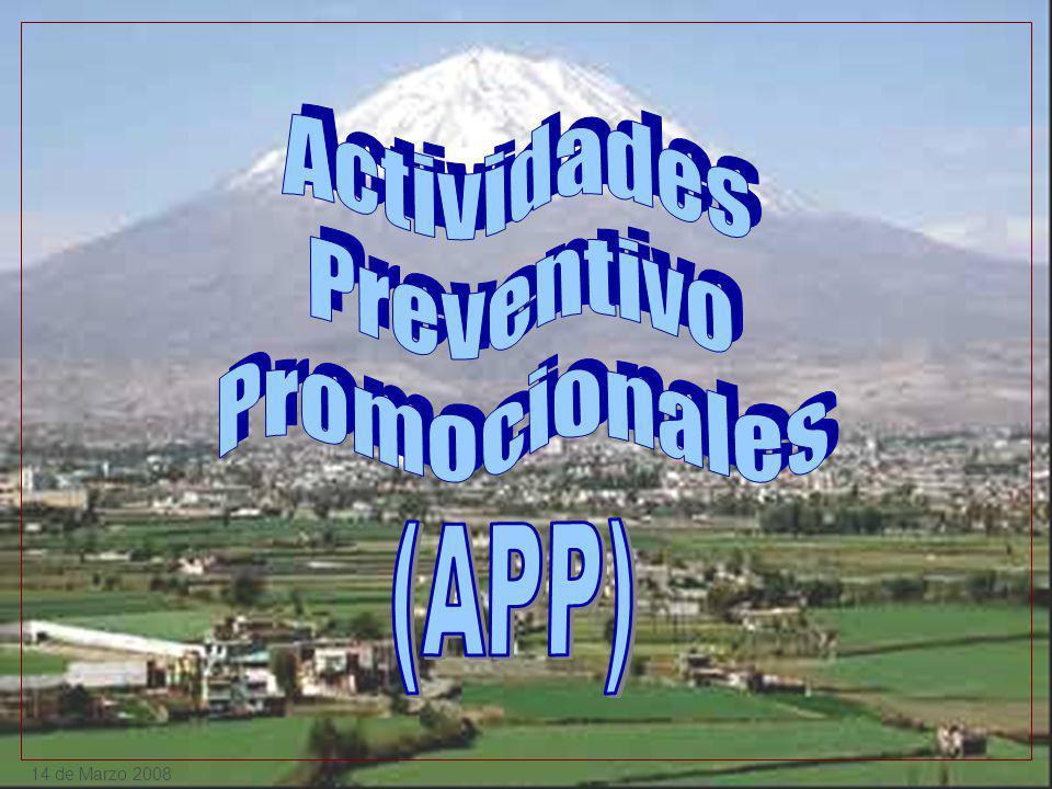 Actividades Preventivo Promocionales (APP) 14 de Marzo 2008