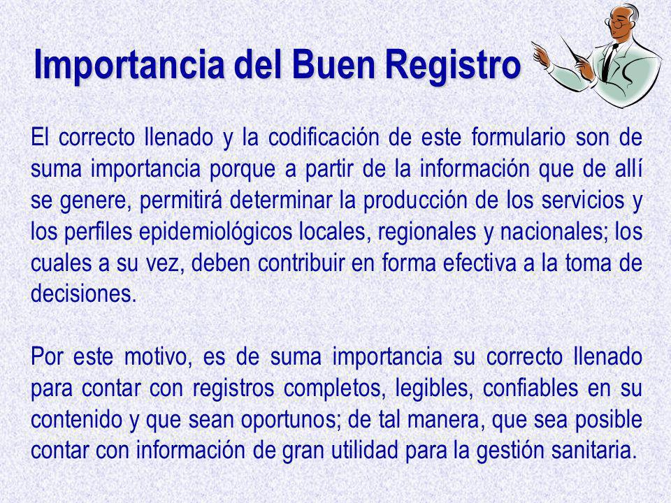 Importancia del Buen Registro