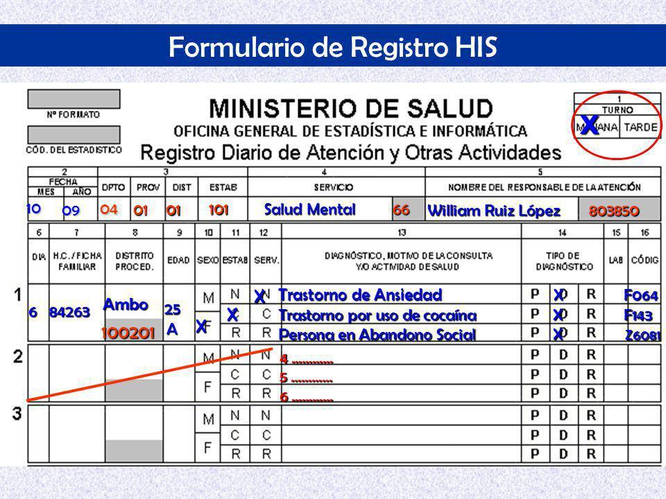 Formulario de Registro HIS