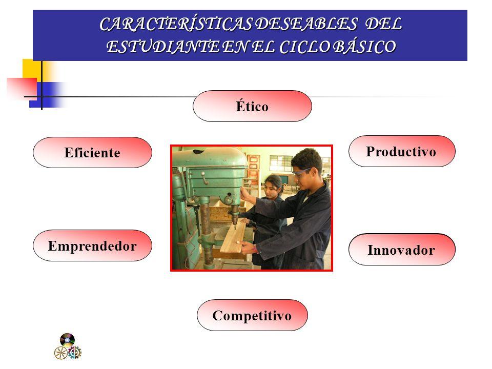 CARACTERÍSTICAS DESEABLES DEL ESTUDIANTE EN EL CICLO BÁSICO