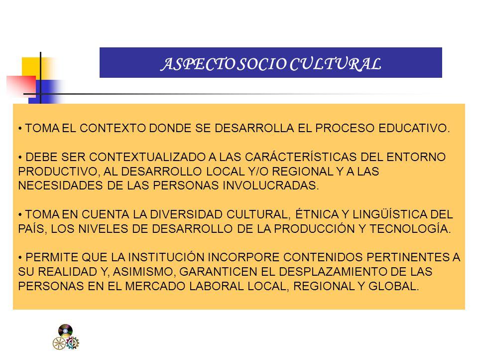 ASPECTO SOCIO CULTURAL