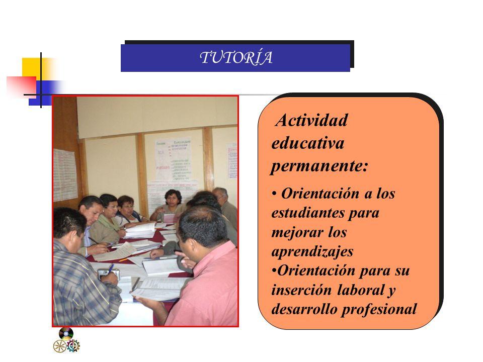 TUTORÍA Actividad educativa permanente: