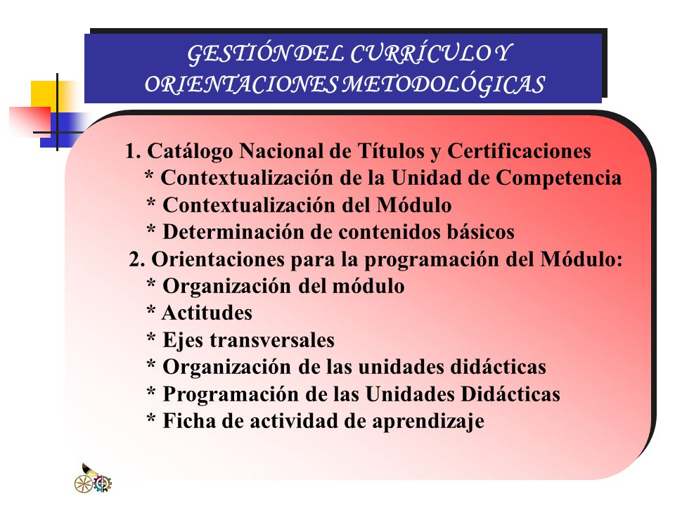 GESTIÓN DEL CURRÍCULO Y ORIENTACIONES METODOLÓGICAS