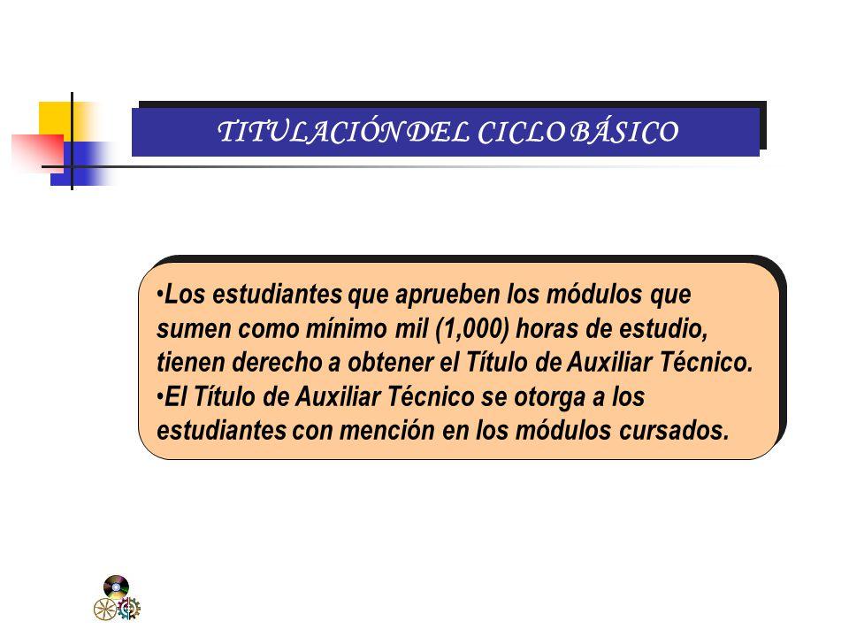 TITULACIÓN DEL CICLO BÁSICO