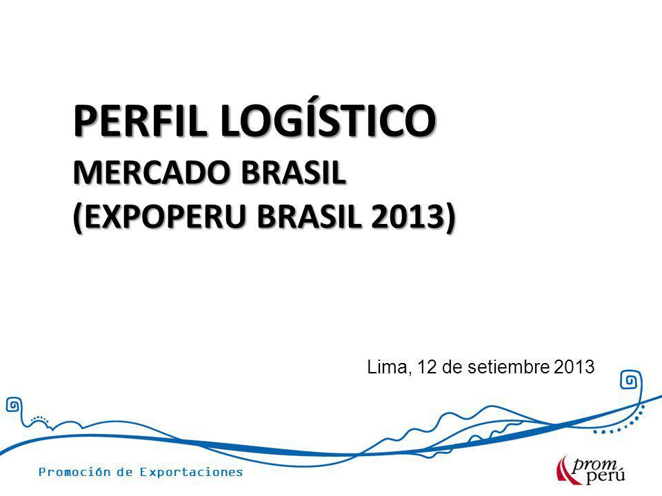 PERFIL LOGÍSTICO MERCADO BRASIL (EXPOPERU BRASIL 2013)