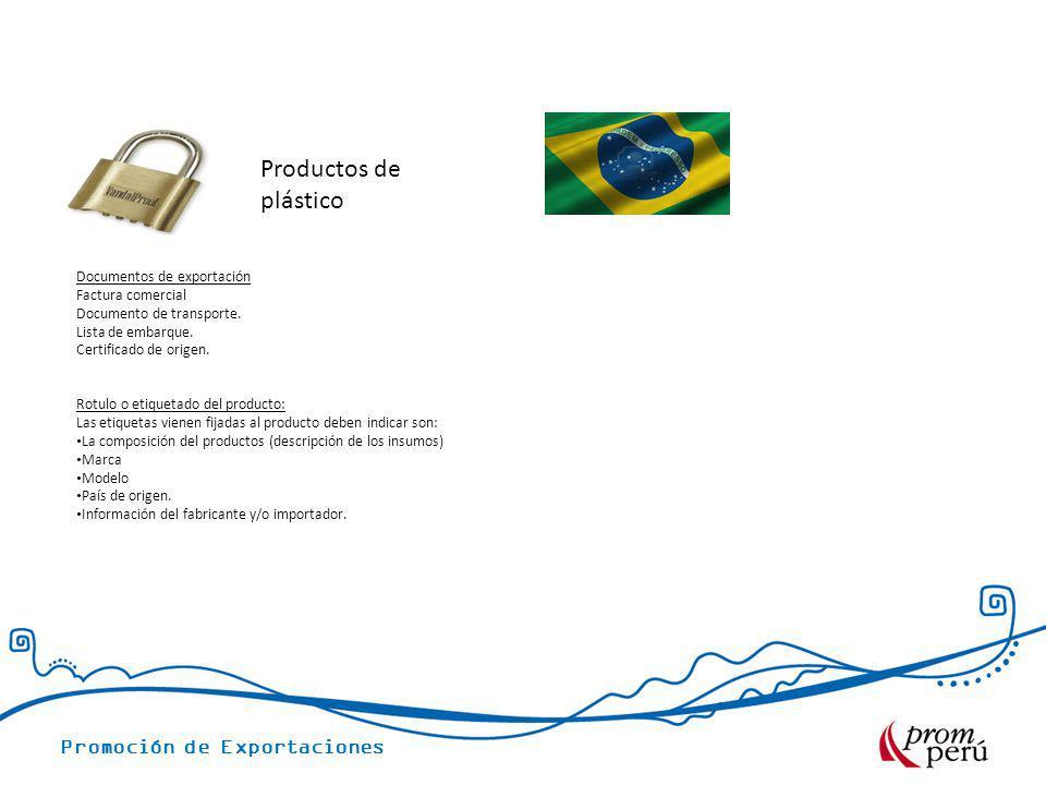 Productos de plástico Documentos de exportación Factura comercial