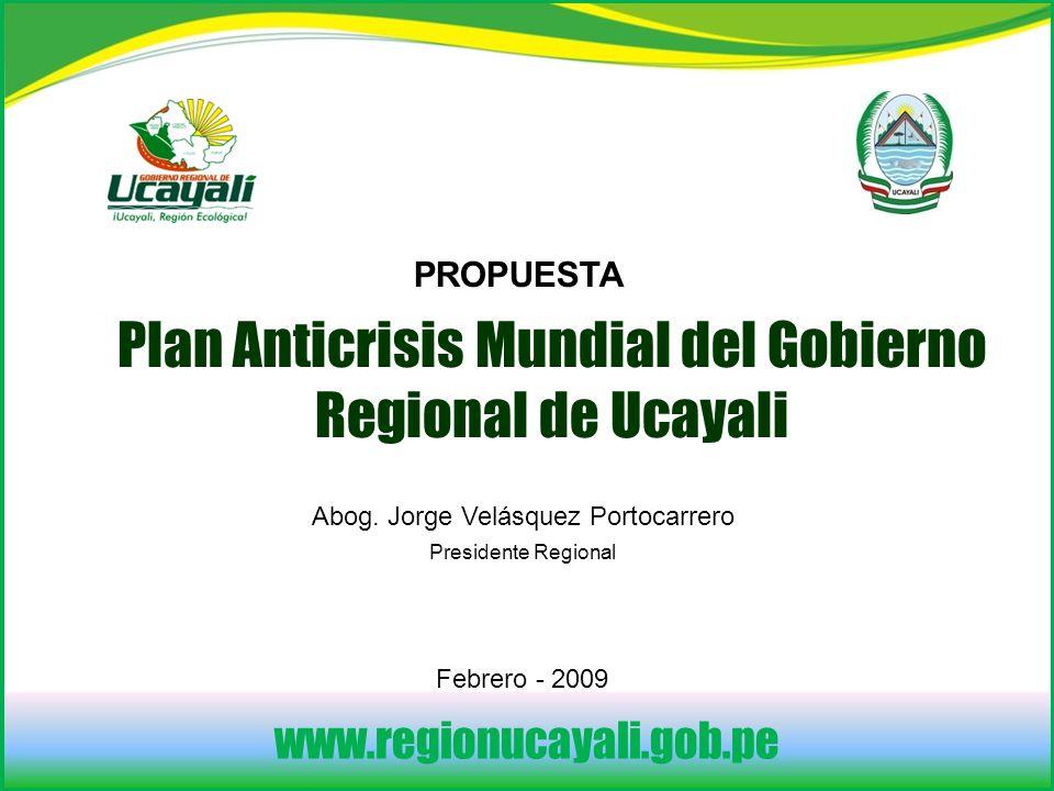 Plan Anticrisis Mundial del Gobierno Regional de Ucayali