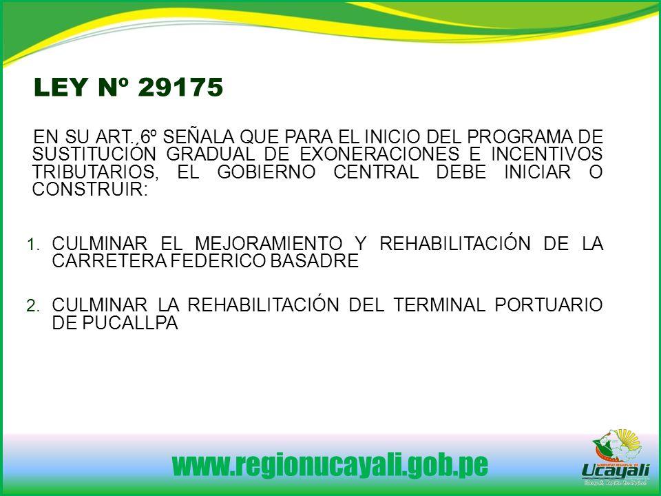 www.regionucayali.gob.pe LEY Nº 29175