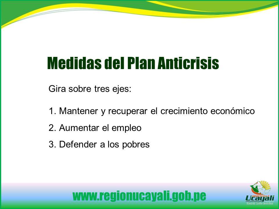 Medidas del Plan Anticrisis