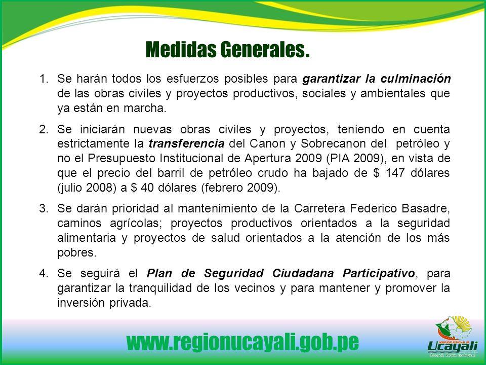 www.regionucayali.gob.pe Medidas Generales.