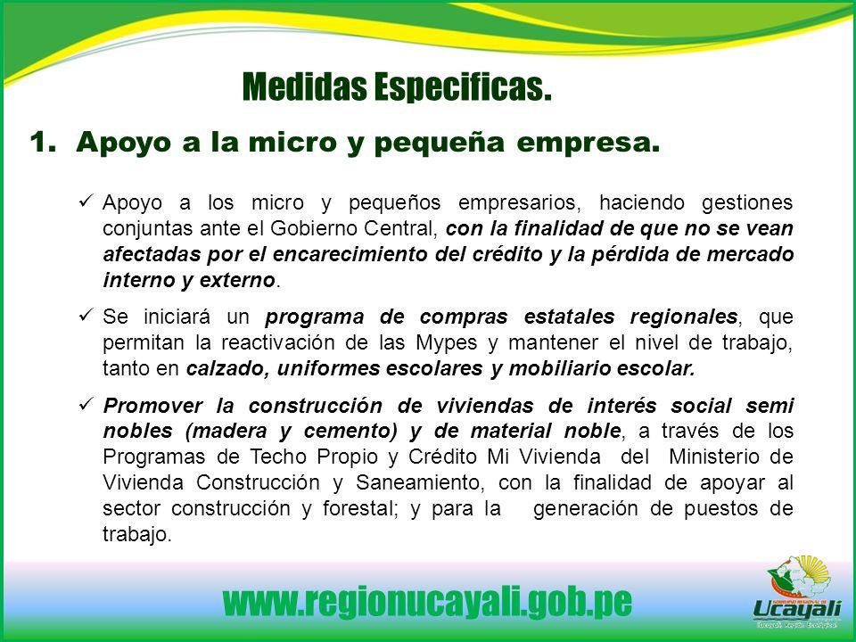 www.regionucayali.gob.pe Medidas Especificas.