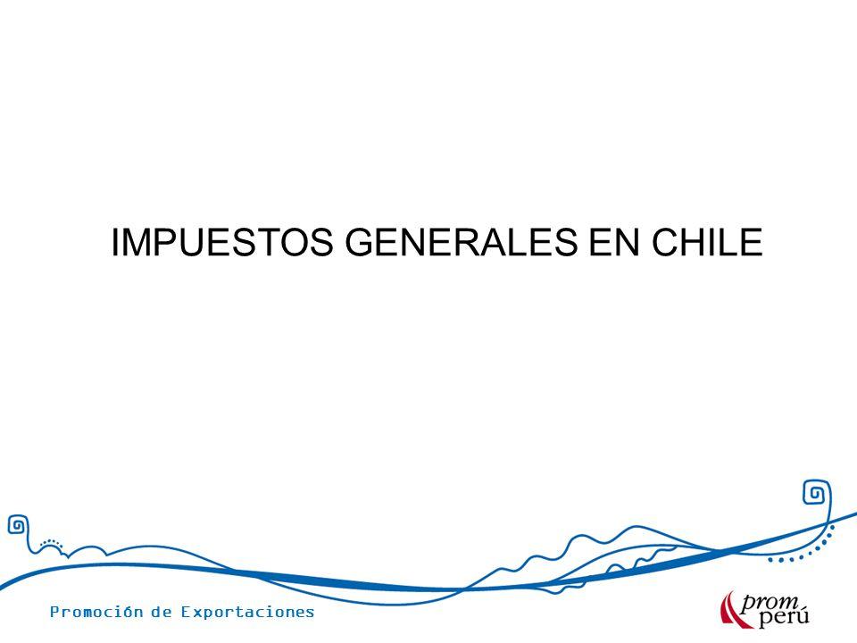 IMPUESTOS GENERALES EN CHILE