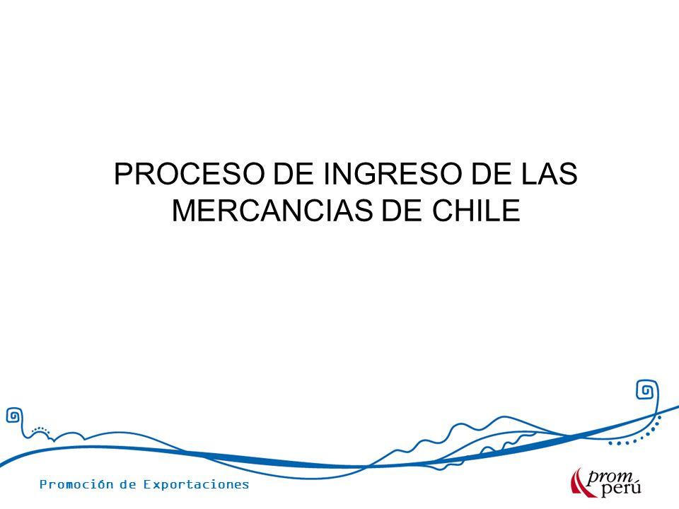 PROCESO DE INGRESO DE LAS MERCANCIAS DE CHILE