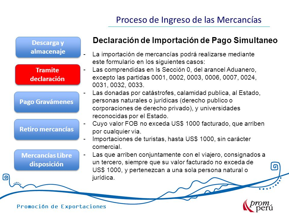 Declaración de Importación de Pago Simultaneo