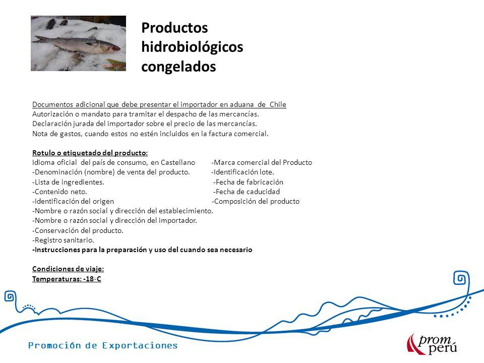 Productos hidrobiológicos congelados