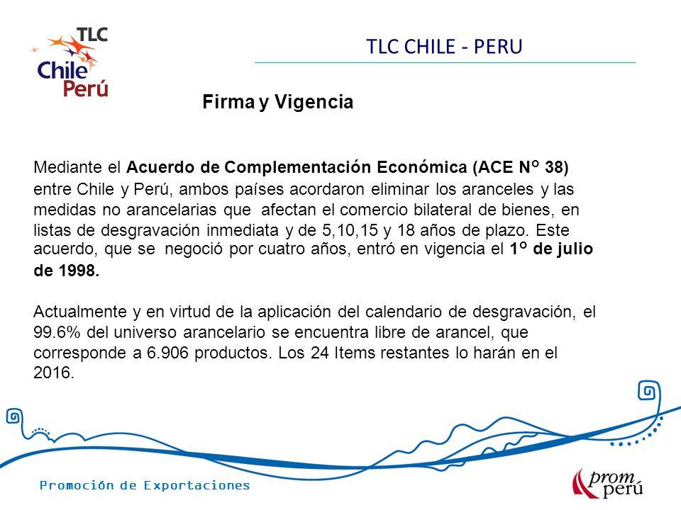TLC CHILE - PERU Firma y Vigencia