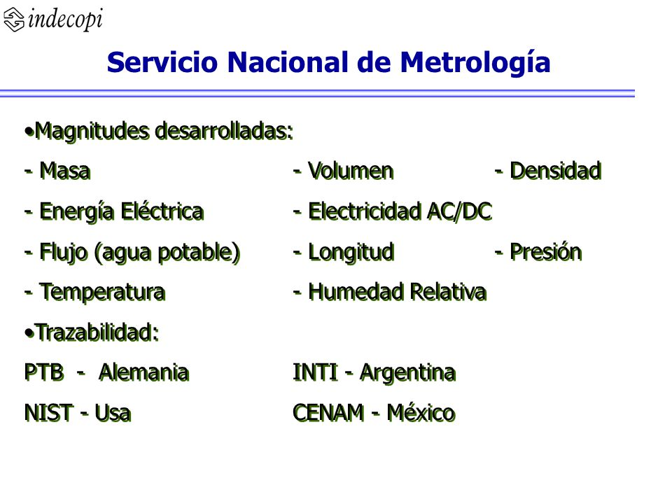 Servicio Nacional de Metrología