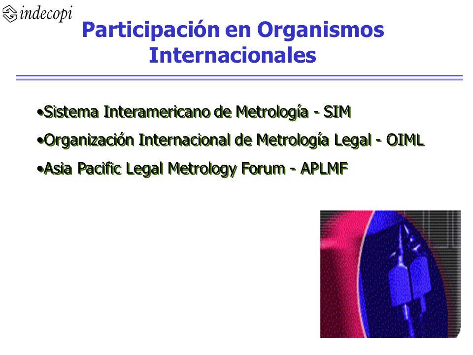 Participación en Organismos Internacionales