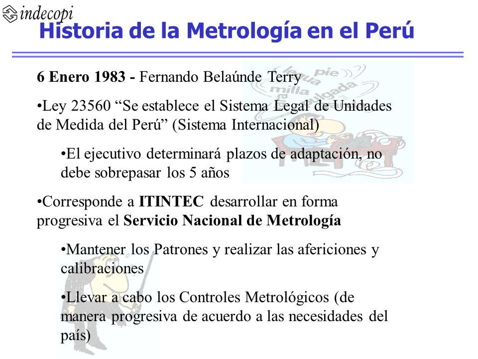 Historia de la Metrología en el Perú