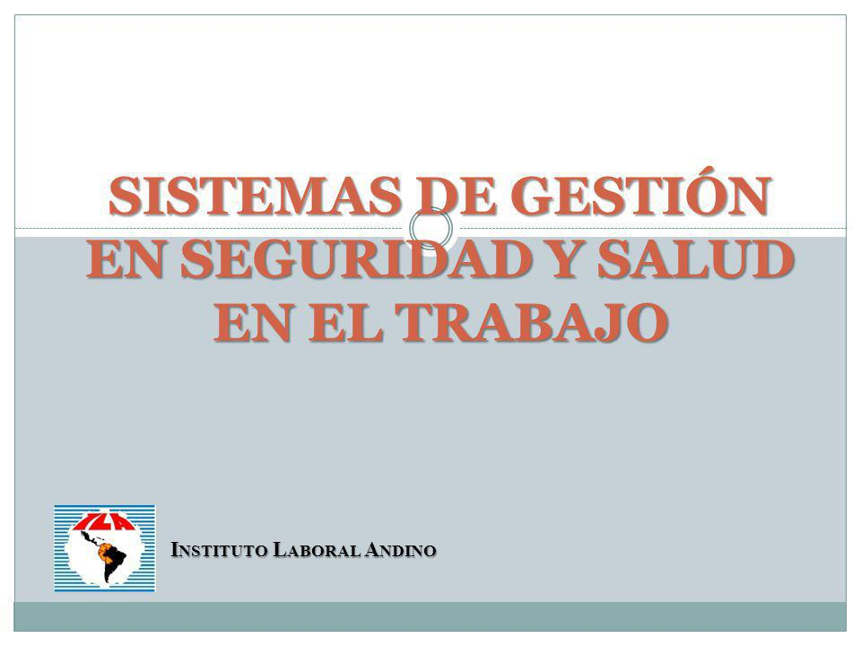 SISTEMAS DE GESTIÓN EN SEGURIDAD Y SALUD EN EL TRABAJO
