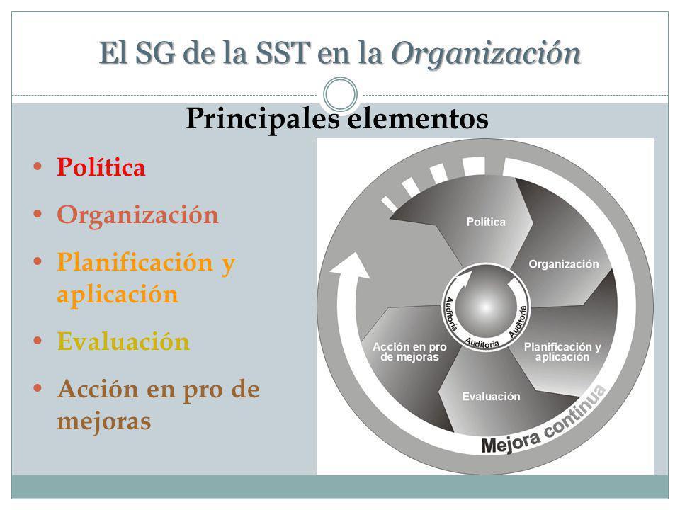 El SG de la SST en la Organización